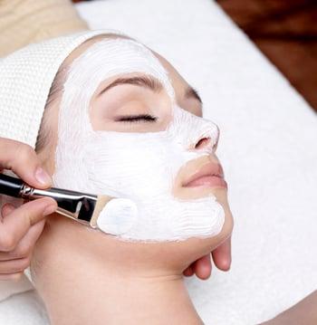Woman having a facial skin treatment