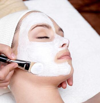 Woman having a facial skin treatment