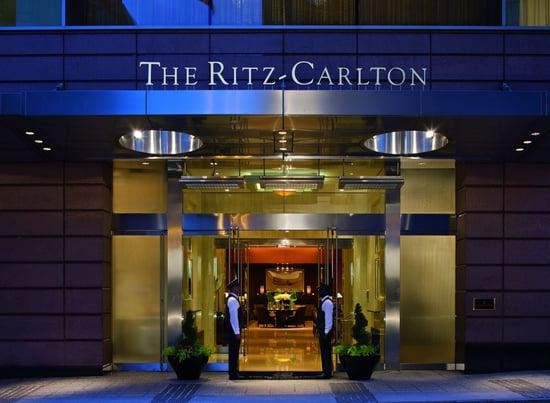 Entrance to a Ritz Carlton hotel