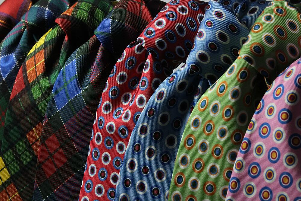 Patterned neckties