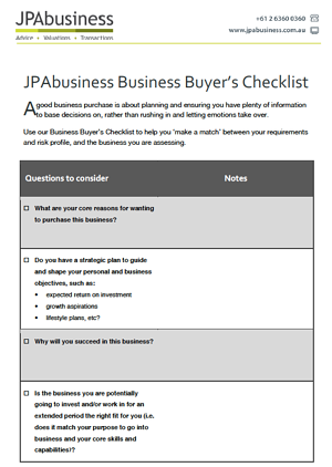 Business Buyers Checklist image