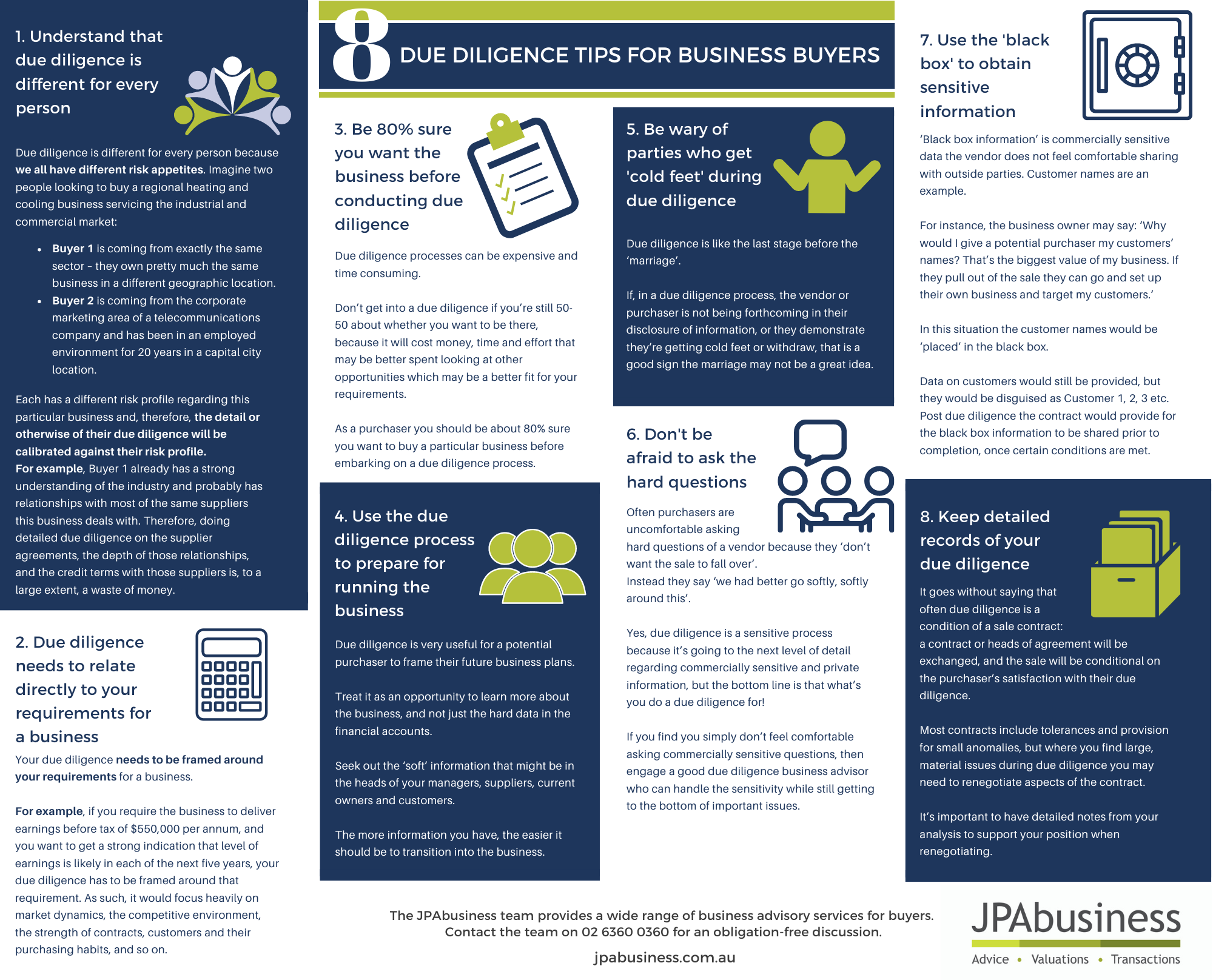 8 due diligence tips for business buyers-1