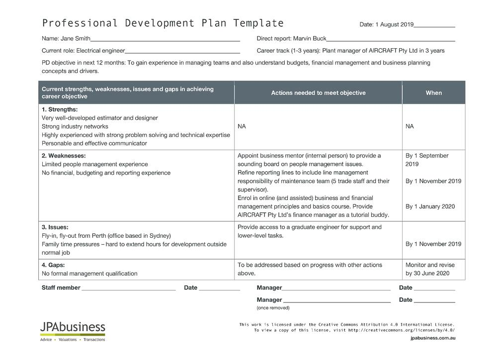 how to create a professional development plan template. Black Bedroom Furniture Sets. Home Design Ideas