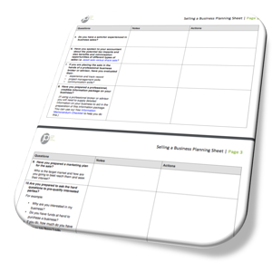Selling a business planning sheet pic2