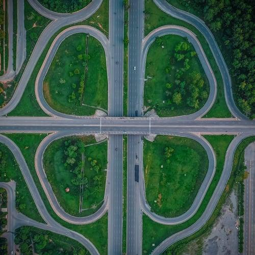 high-angle-photo-of-roads
